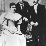 Siblings Anne, Thomas and Anthony Baťa, circa 1900