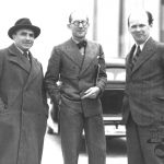 Architects F. L. Gahura, Le Corbusier and B. Fuchs, 1935
