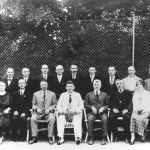 Town Mayor T. Baťa with a group of town councillors, 1923